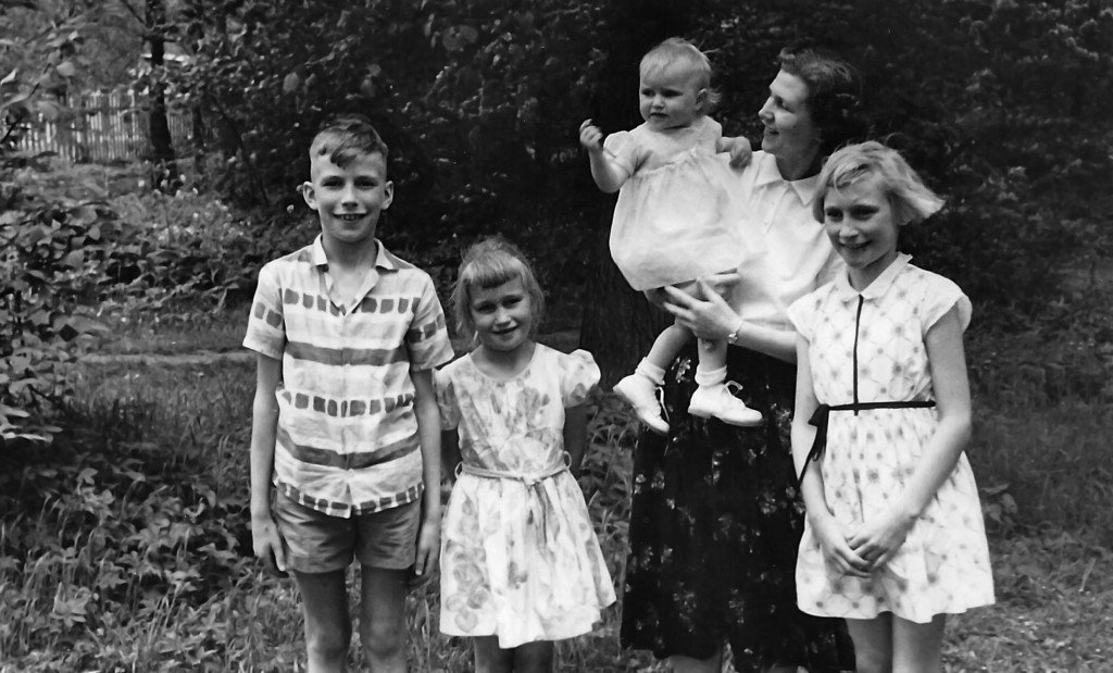 **Helga and family just before emigrating